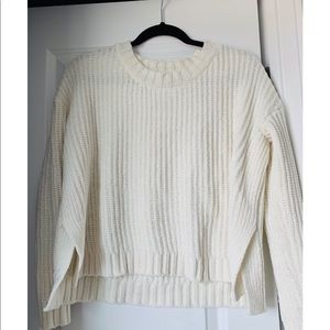 Cream Chenille pullover sweater